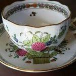 ヘレンドのカップ&ソーサーとプレート・2、岡崎市明大寺町・こうひい庵