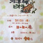 こうひい庵にて、河津桜とビオラ演奏会を開催します